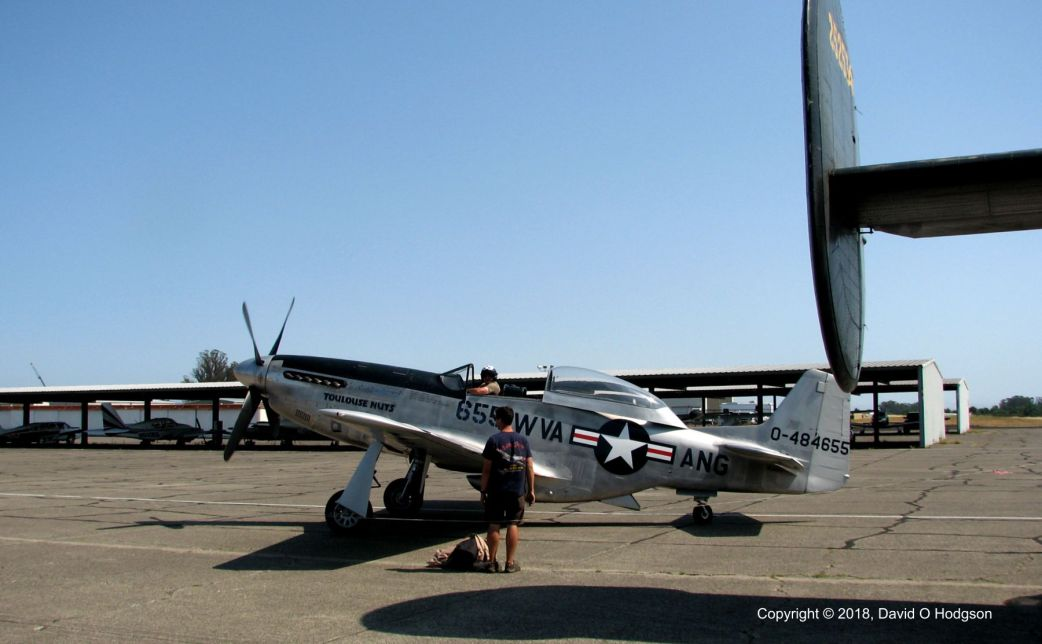TF-51 Taxying at Sonoma County Airport