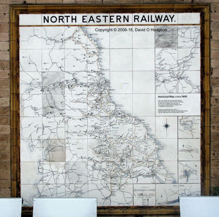 North Eastern Railway tile map, York
