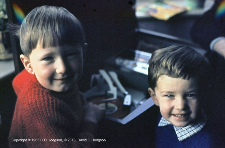 My brother and I with the Radiogram, c.1965