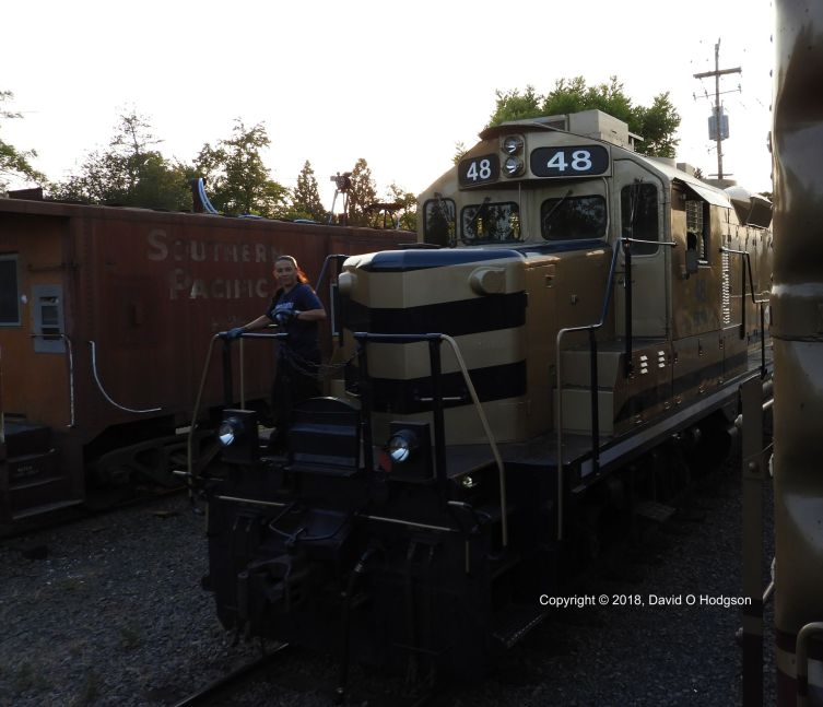 Sierra Railroad #48 at St. Helena