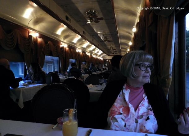 Wine Train Dining Car with Mary