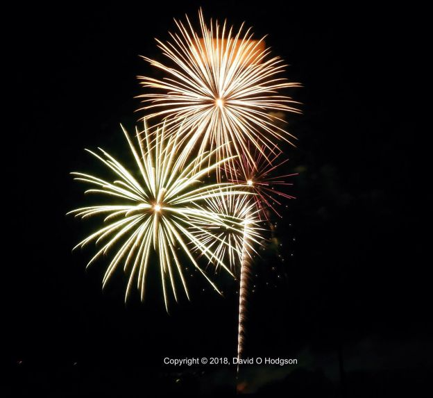 Fireworks at Yountville, 2018