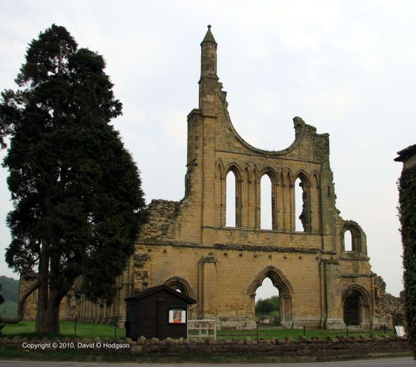 Byland Abbey, West Front, 2010
