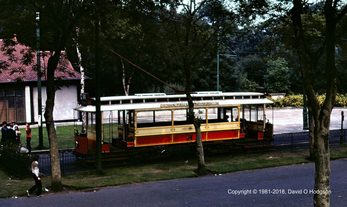 "Manchester ""Californian"" type tram 765: August 1981"