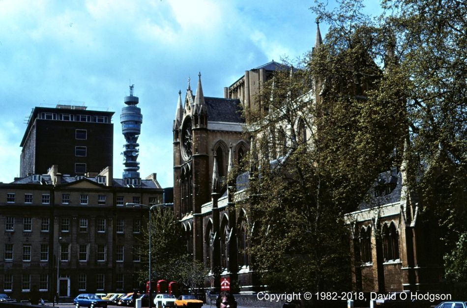 Post Office Tower & Bloomsbury, 1982