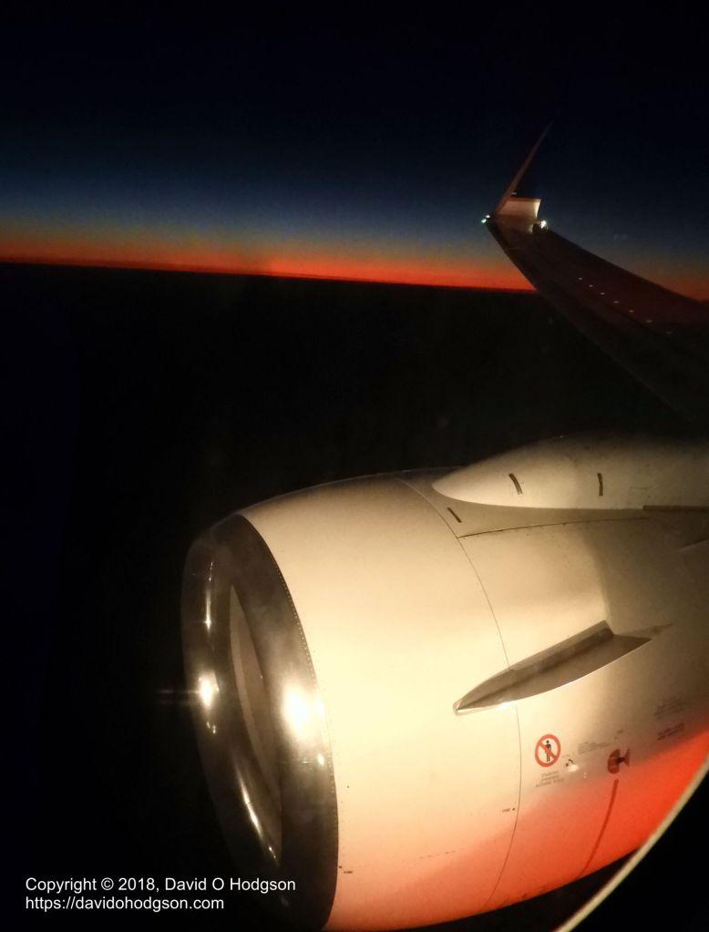 Boeing 737-800 Landing at Sunset