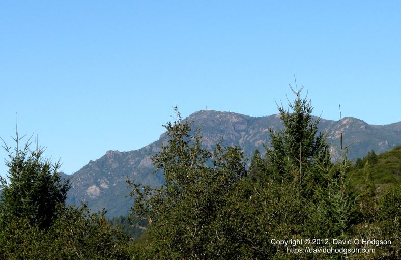 Mount Saint Helena, seen from the Petrified Forest