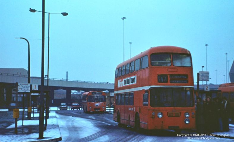 Pool Meadow Bus Station, Coventry, in the Snow