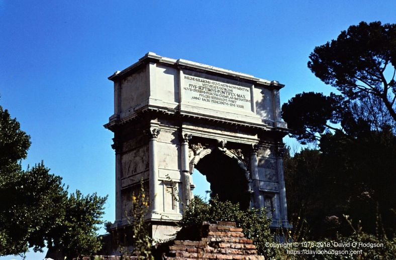 Arch of Titus, Via Sacra, Rome