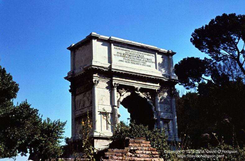 Arch of Titus, Via Sacra, Rome