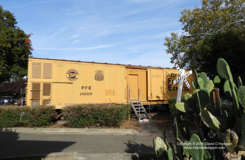 Refrigerator Car at P&SR Depot, Sebastopol