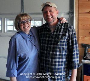 Mary & Jeff, at his studio