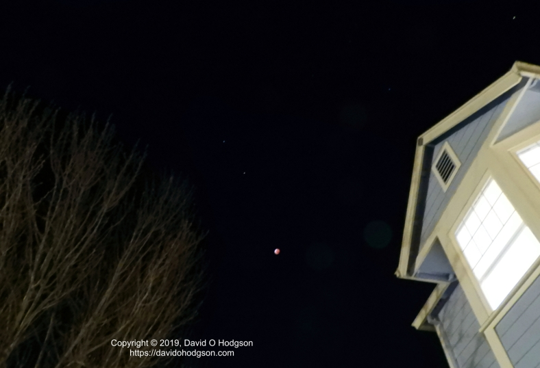 Blood Moon with Castor and Pollux