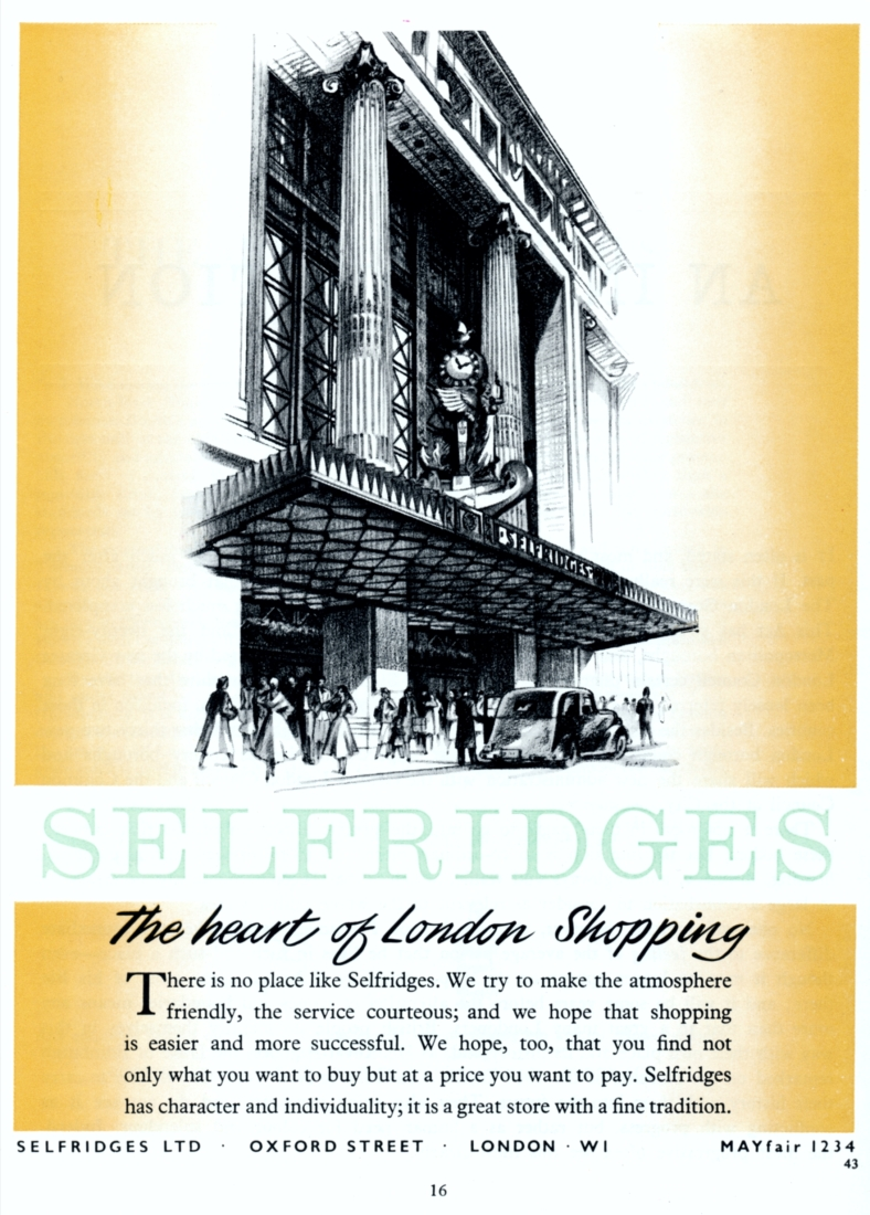 Advertisement for Selfridges, 1964