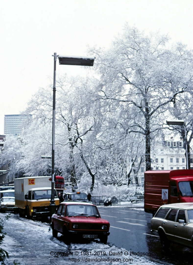 Bloomsbury Square, London, in Snow, 1981